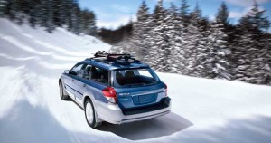 Subaru brand performs on snowy roads and in ads