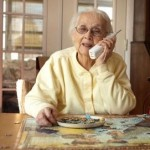 Elderly woman on the phone
